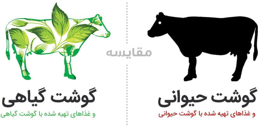 رسپکت - مقایسه گوشت حیوانی با گوشت گیاهی